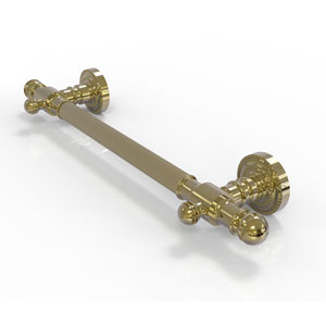 Dottingham Unlacquered Brass 36-Inch Grab Bar Reeded