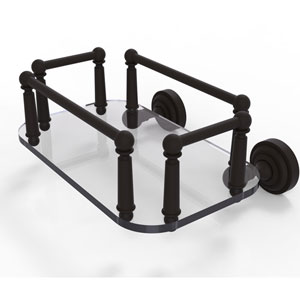 Dottingham Oil Rubbed Bronze Eight-Inch Wall Mounted Glass Guest Towel Tray