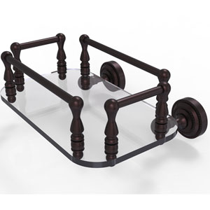 Dottingham Antique Bronze Eight-Inch Wall Mounted Glass Guest Towel Tray