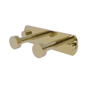 Fresno Unlacquered Brass Three-Inch Two-Position Multi Hook