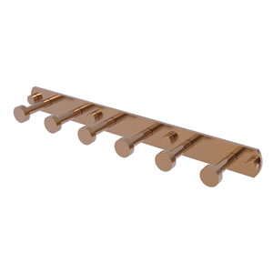 Fresno Brushed Bronze Three-Inch Six-Position Tie and Belt Rack