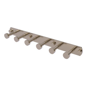 Fresno Antique Pewter Three-Inch Six-Position Tie and Belt Rack