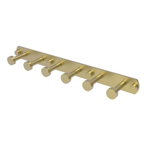 Fresno Satin Brass Three-Inch Six-Position Tie and Belt Rack
