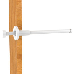 Fresno Matte White Two-Inch Retractable Pullout Garment Rod