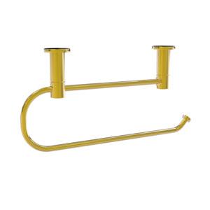 Fresno Polished Brass Seven-Inch Under Cabinet Paper Towel Holder
