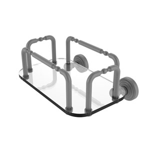 Waverly Place Matte Gray Eight-Inch Mounted Guest Towel Holder