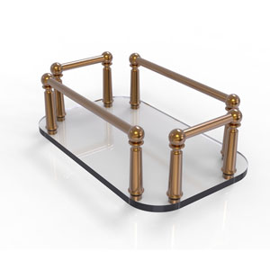 Brushed Bronze Six-Inch Vanity Top Glass Guest Towel Tray