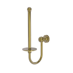 Mambo Unlacquered Brass Five-Inch Upright Toilet Tissue Holder