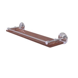 Monte Carlo Polished Chrome 22-Inch Solid IPE Ironwood Shelf with Gallery Rail
