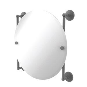 Monte Carlo Matte Gray 22-Inch Round Frameless Rail Mounted Mirror