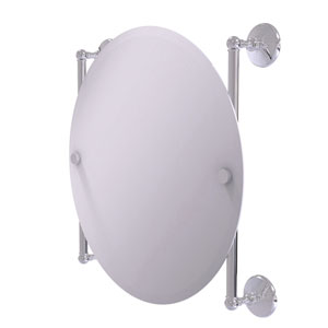 Monte Carlo Polished Chrome 22-Inch Round Frameless Rail Mounted Mirror