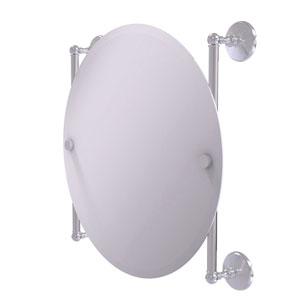 Monte Carlo Satin Chrome 22-Inch Round Frameless Rail Mounted Mirror