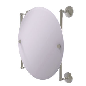 Monte Carlo Satin Nickel 22-Inch Round Frameless Rail Mounted Mirror
