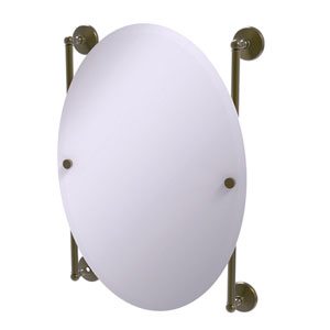 Monte Carlo Antique Brass 21-Inch Oval Frameless Rail Mounted Mirror