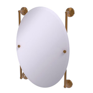 Monte Carlo Brushed Bronze 21-Inch Oval Frameless Rail Mounted Mirror