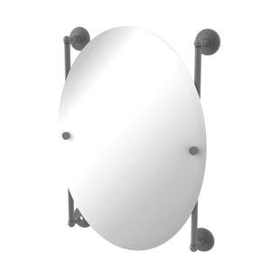 Monte Carlo Matte Gray 21-Inch Oval Frameless Rail Mounted Mirror