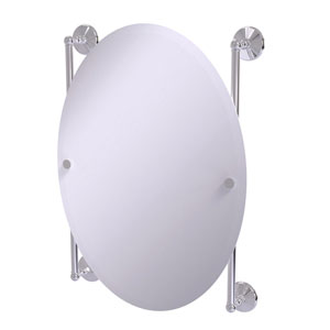 Monte Carlo Polished Chrome 21-Inch Oval Frameless Rail Mounted Mirror