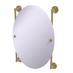 Monte Carlo Satin Brass 21-Inch Oval Frameless Rail Mounted Mirror
