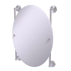 Monte Carlo Satin Chrome 21-Inch Oval Frameless Rail Mounted Mirror
