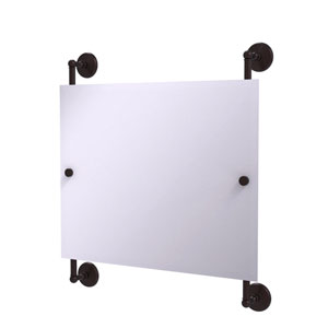 Monte Carlo Antique Bronze 26-Inch Landscape Rectangular Frameless Rail Mounted Mirror