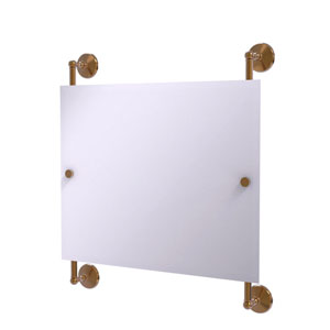 Monte Carlo Brushed Bronze 26-Inch Landscape Rectangular Frameless Rail Mounted Mirror