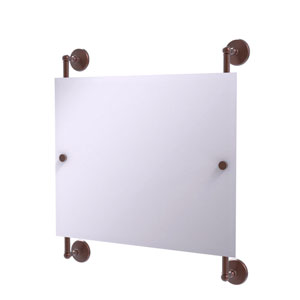 Monte Carlo Antique Copper 26-Inch Landscape Rectangular Frameless Rail Mounted Mirror