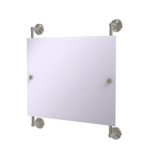 Monte Carlo Satin Nickel 26-Inch Landscape Rectangular Frameless Rail Mounted Mirror