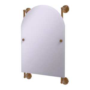 Monte Carlo Brushed Bronze 21-Inch Arched Top Frameless Rail Mounted Mirror