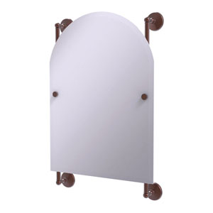 Monte Carlo Antique Copper 21-Inch Arched Top Frameless Rail Mounted Mirror