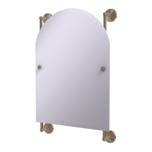 Monte Carlo Antique Pewter 21-Inch Arched Top Frameless Rail Mounted Mirror