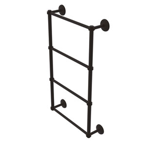 Monte Carlo Oil Rubbed Bronze 30-Inch Four Tier Ladder Towel Bar with Dotted Detail