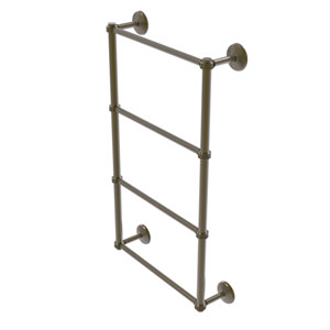 Monte Carlo Antique Brass 36-Inch Four Tier Ladder Towel Bar with Dotted Detail