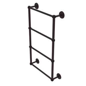 Monte Carlo Antique Bronze 36-Inch Four Tier Ladder Towel Bar with Dotted Detail