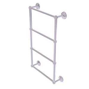 Monte Carlo Polished Chrome 36-Inch Four Tier Ladder Towel Bar with Dotted Detail