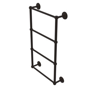 Monte Carlo Oil Rubbed Bronze 30-Inch Four Tier Ladder Towel Bar with Groovy Detail