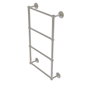 Monte Carlo Satin Nickel 30-Inch Four Tier Ladder Towel Bar with Groovy Detail