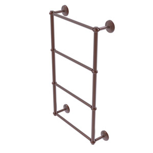 Monte Carlo Antique Copper 30-Inch Four-Tier Ladder Towel Bar with Twisted Detail