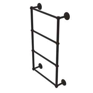 Monte Carlo Oil Rubbed Bronze 36-Inch Four-Tier Ladder Towel Bar with Twisted Detail