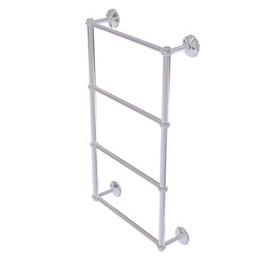 Monte Carlo Polished Chrome 36-Inch Four-Tier Ladder Towel Bar with Twisted Detail