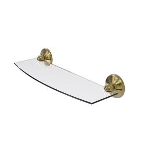 Monte Carlo Unlacquered Brass 18-Inch Glass Shelf