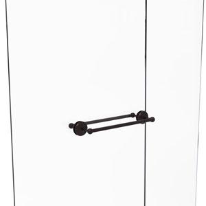 Monte Carlo Antique Bronze 18-Inch Back to Back Shower Door Towel Bar