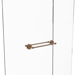 Monte Carlo Brushed Bronze 18-Inch Back to Back Shower Door Towel Bar
