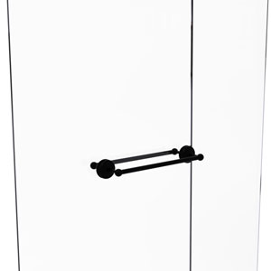 Monte Carlo Matte Black 18-Inch Back to Back Shower Door Towel Bar