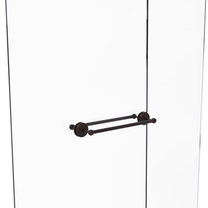 Monte Carlo Venetian Bronze 18-Inch Back to Back Shower Door Towel Bar