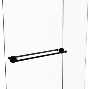 Monte Carlo Matte Black 30-Inch Back to Back Shower Door Towel Bar