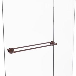 Monte Carlo Antique Copper 30-Inch Back to Back Shower Door Towel Bar