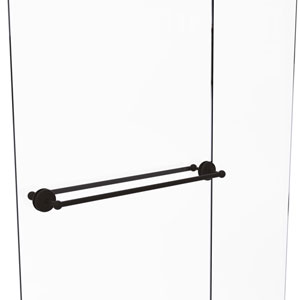Monte Carlo Oil Rubbed Bronze 30-Inch Back to Back Shower Door Towel Bar