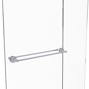 Monte Carlo Satin Chrome 30-Inch Back to Back Shower Door Towel Bar