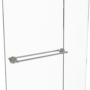 Monte Carlo Satin Nickel 30-Inch Back to Back Shower Door Towel Bar
