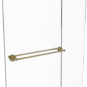Monte Carlo Unlacquered Brass 30-Inch Back to Back Shower Door Towel Bar
